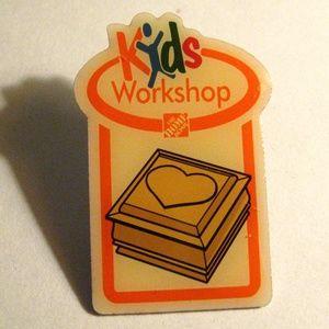 Home Depot Kids Heart Box Valentine Lapel Pin